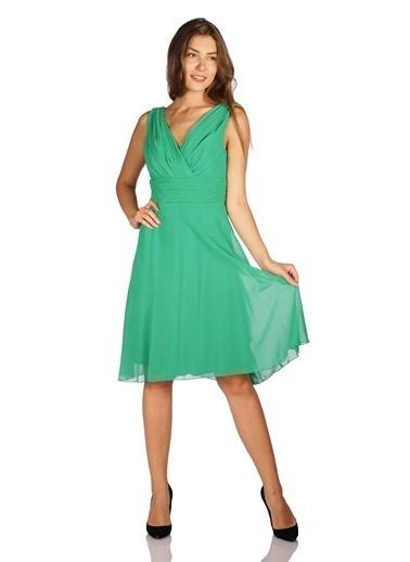 Pierre Cardin Kısa Abiye Elbise Yeşil